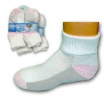 Girls Premium Ankle Socks by Gildans