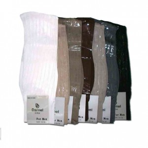 Mens thick and thin nylon socks