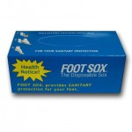 Disposable Foot Sox #410 Comfortable no hassle foot protection, perfect for shoe stores, wear them once and throw them away.